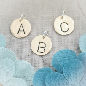 Brass Initial Charms
