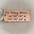 Latitude and Longitude Keychain