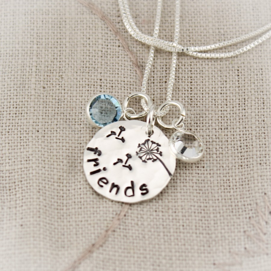 Friendship Necklace With Birthstones Necklace