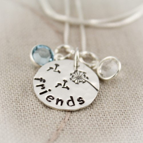 Friendship Necklace with Birthstones
