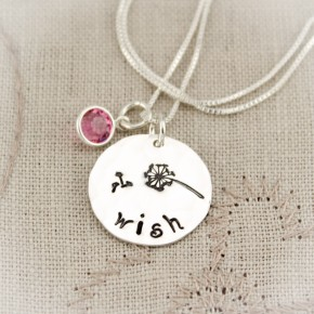 Make a Wish Dandelion Necklace with Birthstones