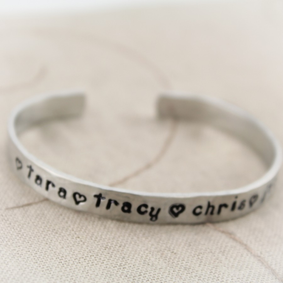 Personalized Cuff Bracelet Custom Bracelet