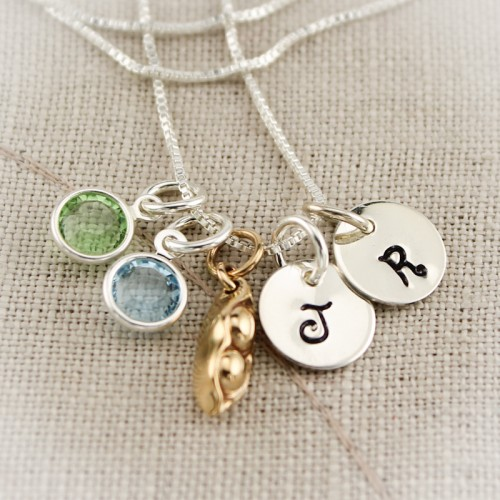 Peas in a Pod Charm Necklace