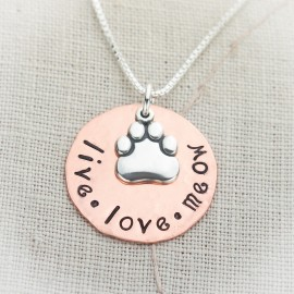 Live Love Meow or Woof Necklace