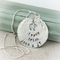 Sterling Silver Baby Footprints Necklace