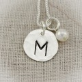Classic Initial Necklace in Silver