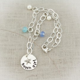 Sterling Silver Beach Girl Anklet