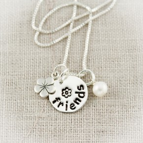 Hello Friend Charm Necklace
