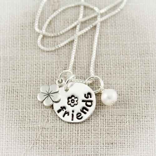 Hello Friend Charm Necklace