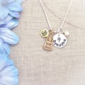 Breathe Yoga Charm Necklace