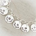 Name Charm Anklet with Sterling Silver