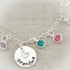 Mother or Grandmother Birthstone Anklet
