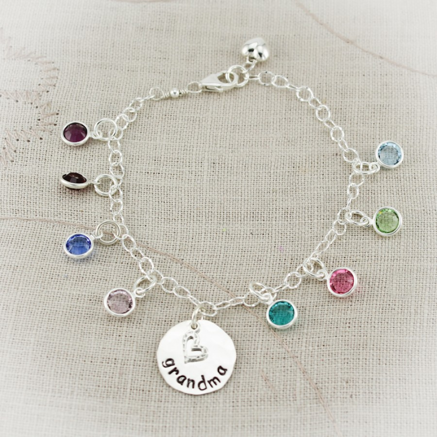 nanny 39 s birthstone charm bracelet charm bracelet. Black Bedroom Furniture Sets. Home Design Ideas