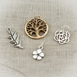 Flowers, Leaves, and Tree Charms