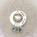 Circle of Love in Sterling Silver Family Necklace