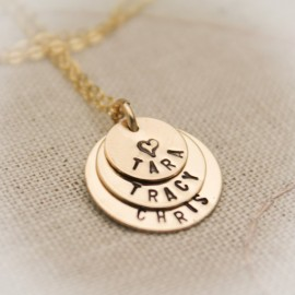 Tiny Layers of Love Necklace in 14K Gold Filled