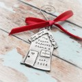 Our First Home Personalized Hand Stamped Christmas Ornament