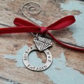 Personalized Engagement Christmas Ornament