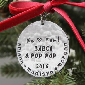 Personalized Grandparents Christmas Ornament