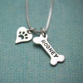 Dog Bone Charm Necklace