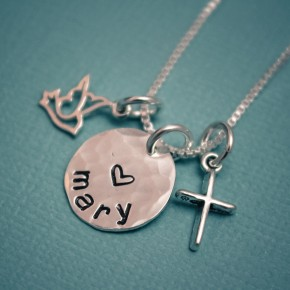 Dove and Cross Necklace