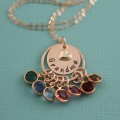 Grandmother's Pride Necklace with Birthstones in 14K Gold Filled