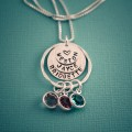 Grandmother's Love Layered Birthstone Necklace