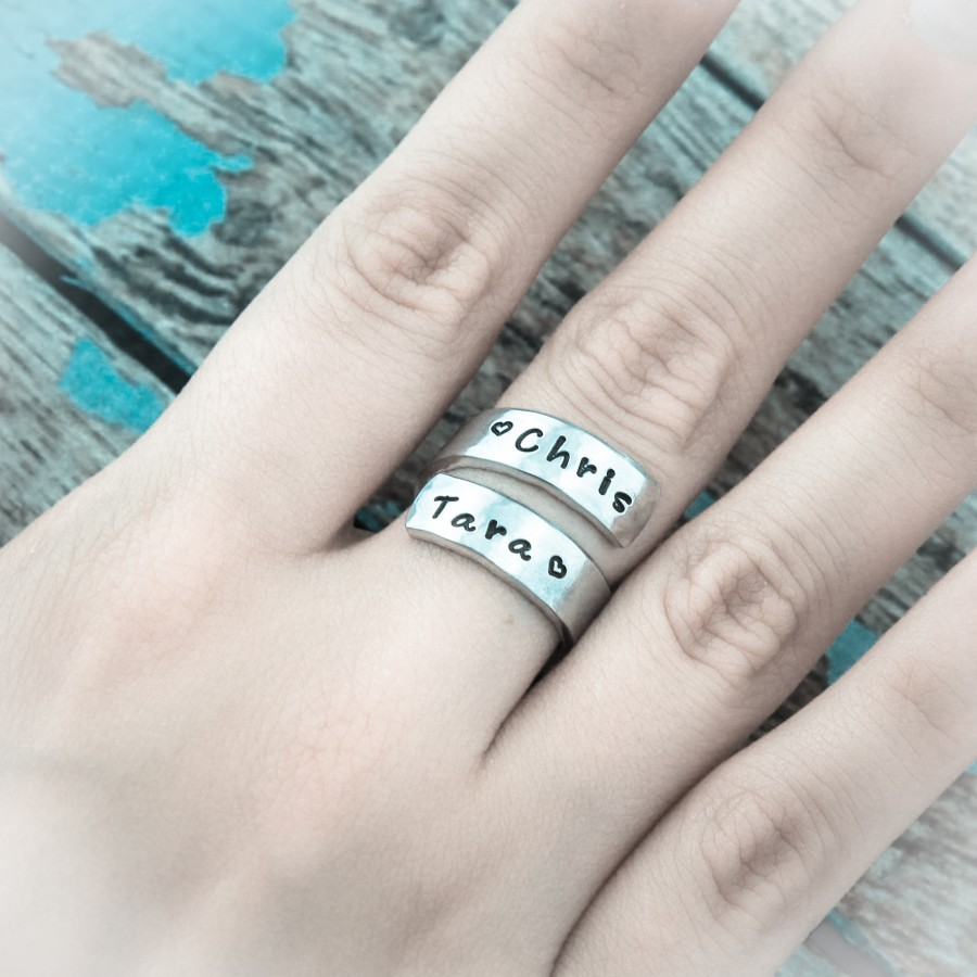 Ring Of Love Personalized Wrap Ring Ring