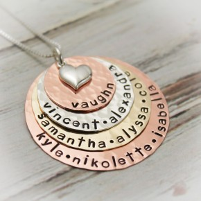 Lots of Layers of Love Grandmother or Mother Necklace