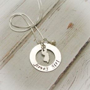 Jersey Girl Washer Necklace