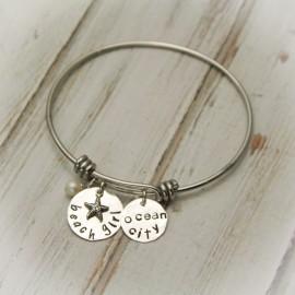 Personalized Beach Girl Bangle Bracelet
