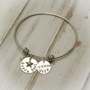 Personalized Beach Girl Bangle Bracelet