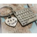 Remember the Date Calendar Keychain in Pewter