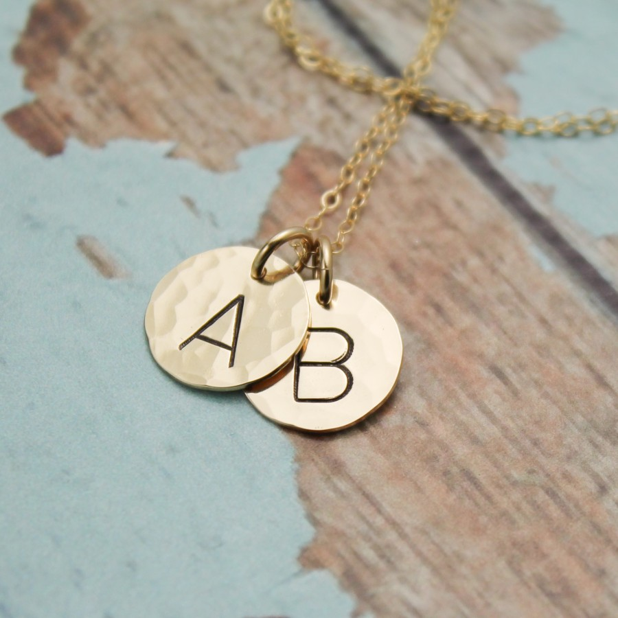 Classic Initial Necklace In Rose Gold Filled Or Gold Filled