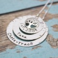 Layers of Love Tree of Life Washer Necklace in Sterling Silver