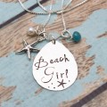 Beach Girl Tear Drop Necklace