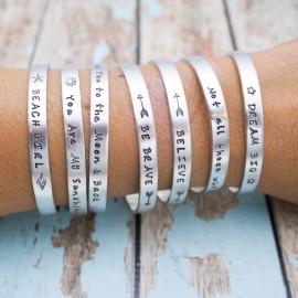 Personalized Cuff Bracelet - Mantra Cuffs