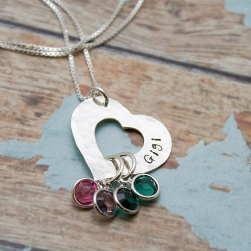 Open Heart Family Necklace