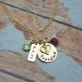 Full of Love Necklace with Birthstones in 14K Gold Filled