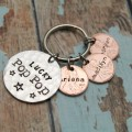 Lucky Dad or Grandpa Keychain