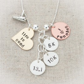 Run Like a Mother Marathon Necklace