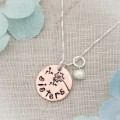 Aunt or Sister Dandelion Necklace in Your Choice of Metal