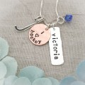 Personalized Sports Necklace - Lacrosse, Field Hockey, Volleyball, Basketball, Cheerleading & More
