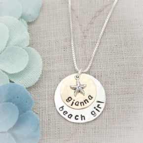 Personalized Beach Girl Necklace