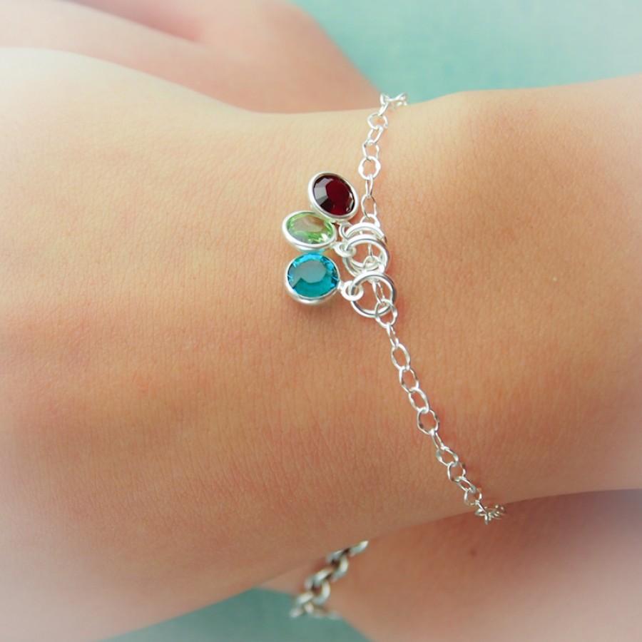Sterling Silver Birthstone Bracelet Bracelet