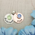 Little Jewels Disc Charms in Silver