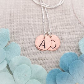 Classic Initial Necklace in Brass or Copper