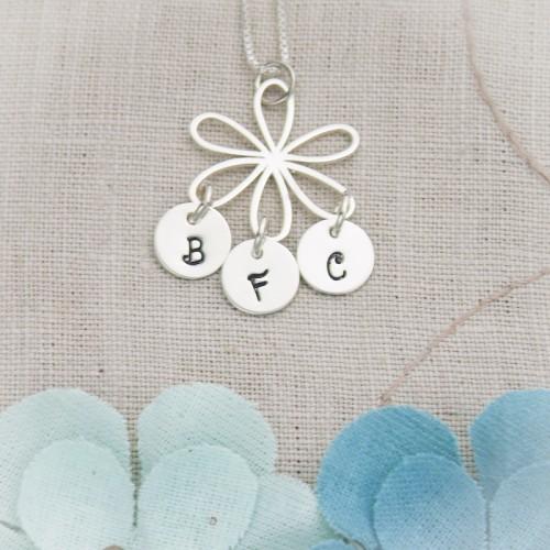 Flower & Letters Necklace