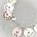 Name Charm Bracelet with Mixed Metals