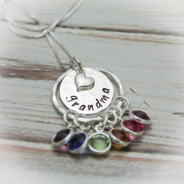 Grandmother S Pride Necklace With Birthstones Necklace